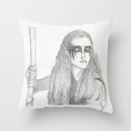 Commander Lexa Throw Pillow