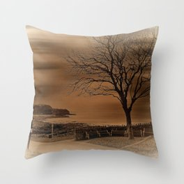 Postcard from the Seaside Throw Pillow