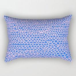 Noodle Doodle Blue Rectangular Pillow