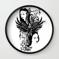 laura palmer Wall Clocks featuring Laura by Hoovers From Hell