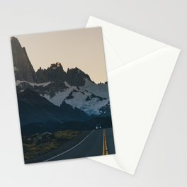 The road to Fitz Roy Stationery Cards