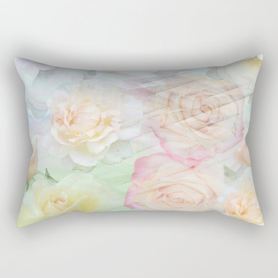 Romantic roses in pastels Rectangular Pillow