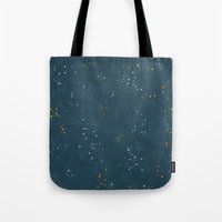 constellations Tote Bags featuring Constellations by Little Holly Berry