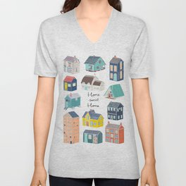 Home Sweet Home - Little Houses Print Unisex V-Neck