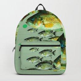 GREENISH  SEA BASS FISHING GRAPHIC Backpack
