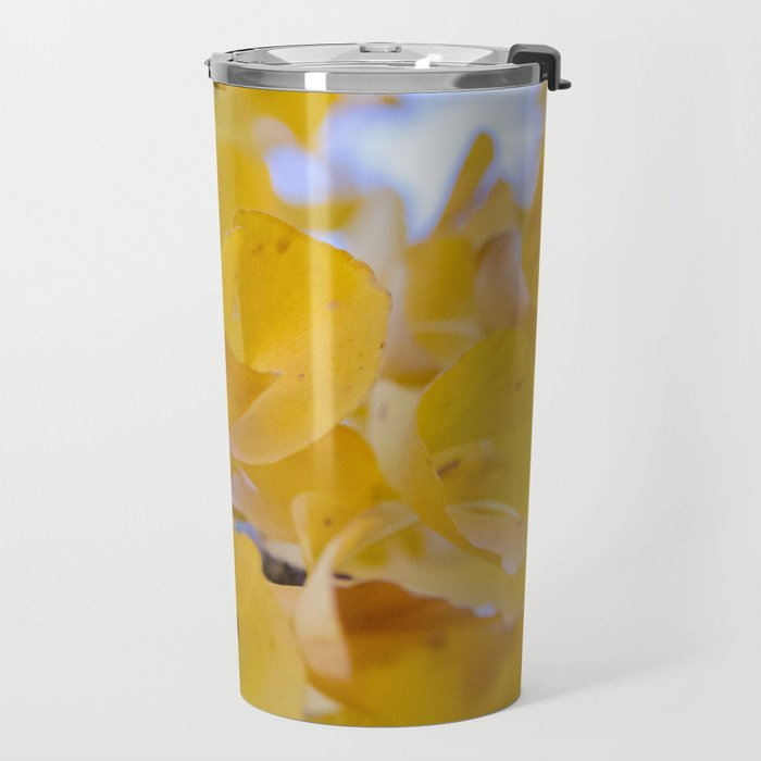 Ginkgo Yellow Leaves Travel Mug
