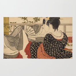 Lovers In The Upstairs Room Rug