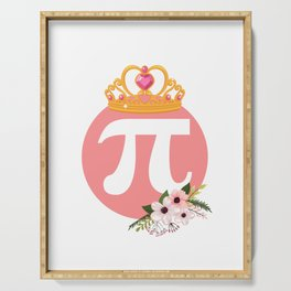 Queen Of Pi Cute Math product Serving Tray