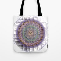 ohm Tote Bags featuring Ohm Mandala by SRC Creations