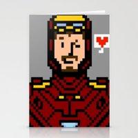 tony stark Stationery Cards featuring tony stark by saltyking