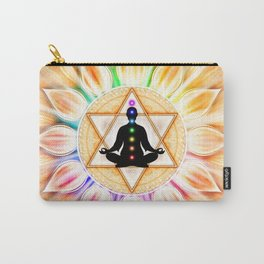 In Meditation With Chakras II Carry-All Pouch