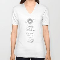 poem V-neck T-shirts featuring Sun/Moon Poem by KA Doodle