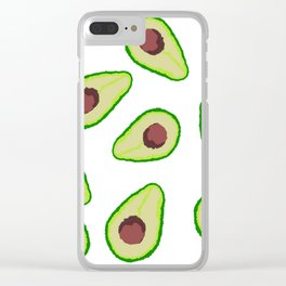 Avocados Clear iPhone Case