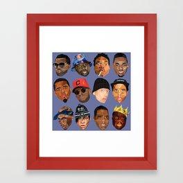 hip hop head Framed Art Print