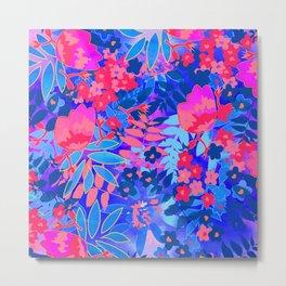 Vibrant Flower Print Metal Print