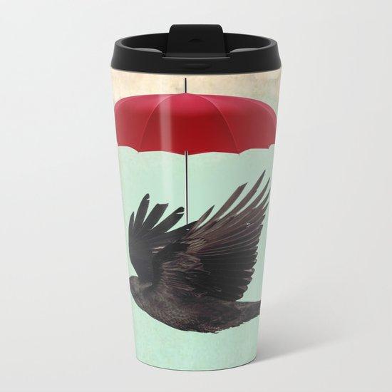 Raven Cover Metal Travel Mug