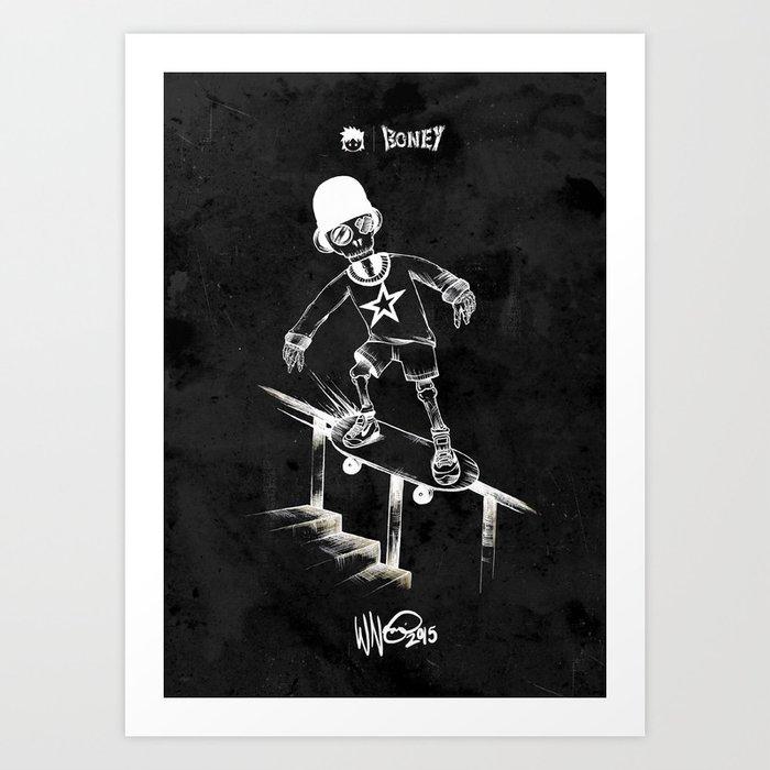 Boney Skateboarding series - 04 Art Print