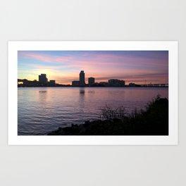 Jacksonville Winter Morning Skyline Art Print