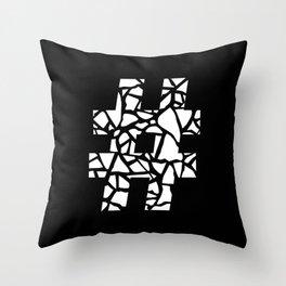 Hashtag #2 Throw Pillow