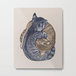 Kitten Cuddle Puddle Metal Print