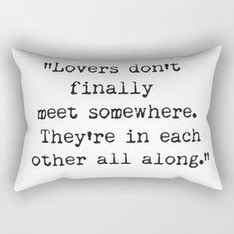 Rumi wisdom, quote. Rectangular Pillow