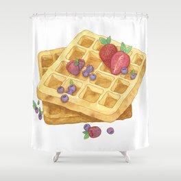 Waffles Shower Curtain