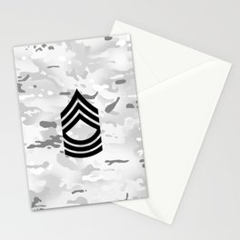 Master Sergeant (Winter Camo) Stationery Cards