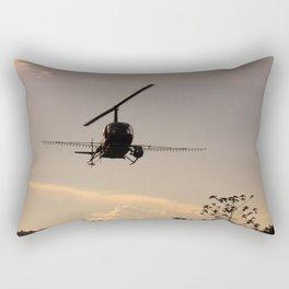 Lindo Atardecer de Trabajo Rectangular Pillow