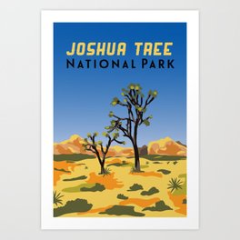 Joshua Tree Illustration Art Print