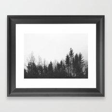black trees Framed Art Print