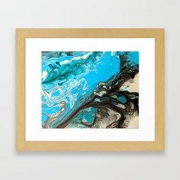 Ocean Granite Framed Art Print