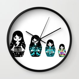 Japanese Matriochka Wall Clock