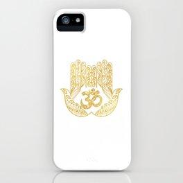 Hamsa - Om symbol iPhone Case