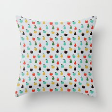 Apples + Pears Throw Pillow