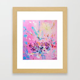 The flash of happiness Framed Art Print