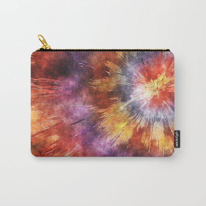 Colorful Tie Dye Rings Carry-All Pouch