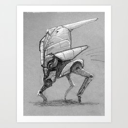 Winter Walker. Sketch. Art Print