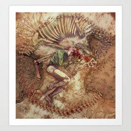 Scary Monster Art Print