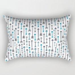 Watercolour Blue Arrows Rectangular Pillow