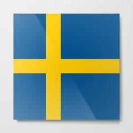 Sweden National Flag Metal Print