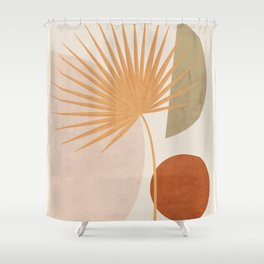 Tropical Leaf- Abstract Art 49a Shower Curtain