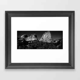 Yosemite Domes Framed Art Print