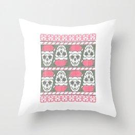 Skull Dirty Sweater United Kingdom UK Skull Throw Pillow