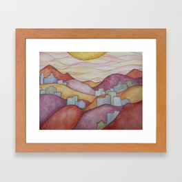Colorful Hillsides Framed Art Print