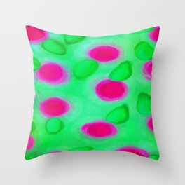 Basenji Flower Throw Pillow