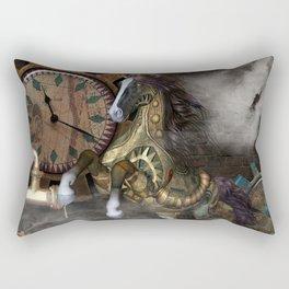 Steampunk, beautiful steampunk horse Rectangular Pillow