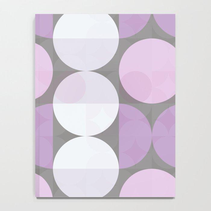 pink grey circular pattern Notebook