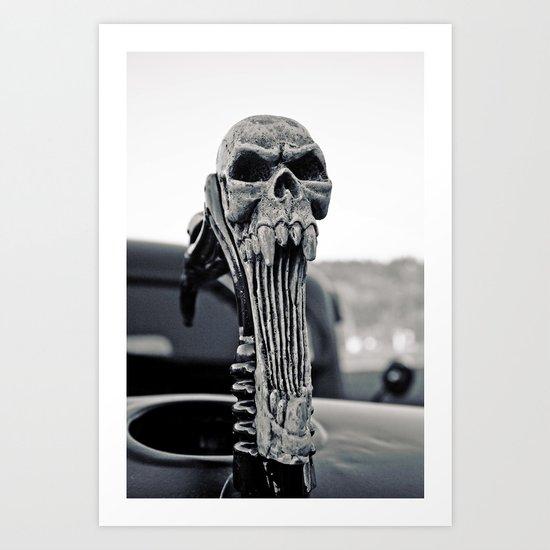Skull ornament Art Print