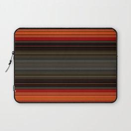 Sunset Orange and Grey Stripes Laptop Sleeve