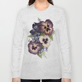 Watercolor Pansy Bouquet Long Sleeve T-shirt